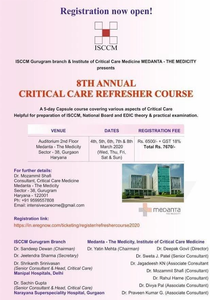 ISCCM 8th Annual Critical Care Refresher Course 2020