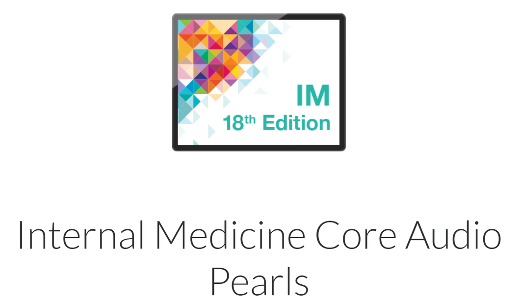 Medstudy Internal medicine Audio Pearls 18th Edition 2019