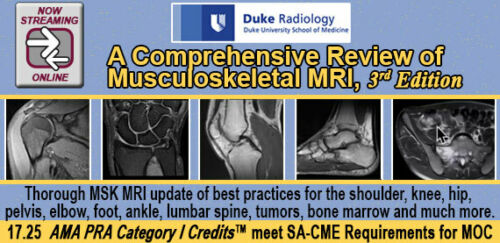 A Comprehensive Review of Musculoskeletal MRI 2018, 3rd Ed