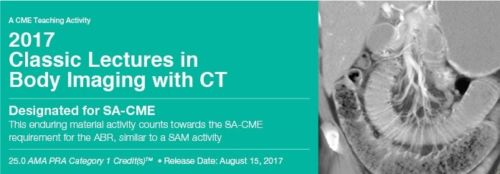 Classic Lectures in Body Imaging With CT 2017