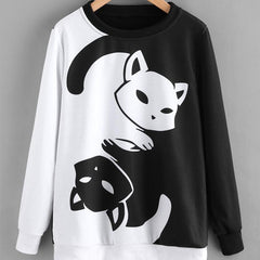 Women´s Yin Yang Cat Sweatshirt