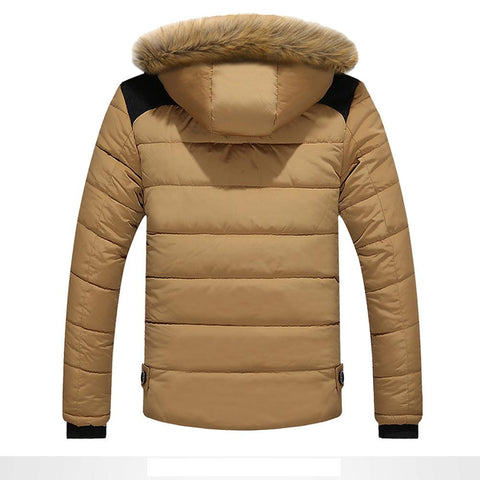 Men Fur Hooded Coat