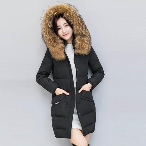 Women`s Fur Collar Parka