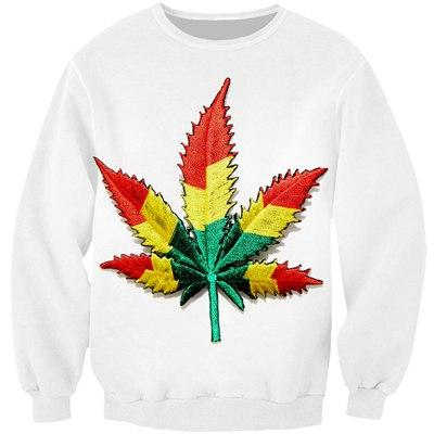 Illusion weed leaf sweatshirt