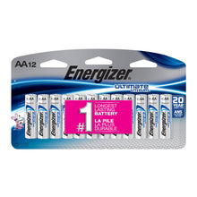 Load image into Gallery viewer, Energizer Ultimate Lithium AA Batteries, 12 Pack