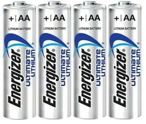 AA Lithium Batteries, 4-pack