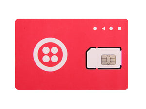 SIM Card (Twilio, Red & White, Free Trial)