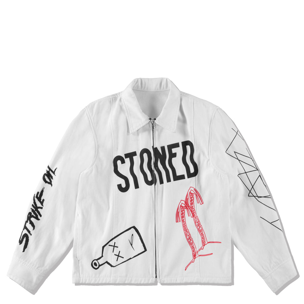 STONED DENIM JACKET