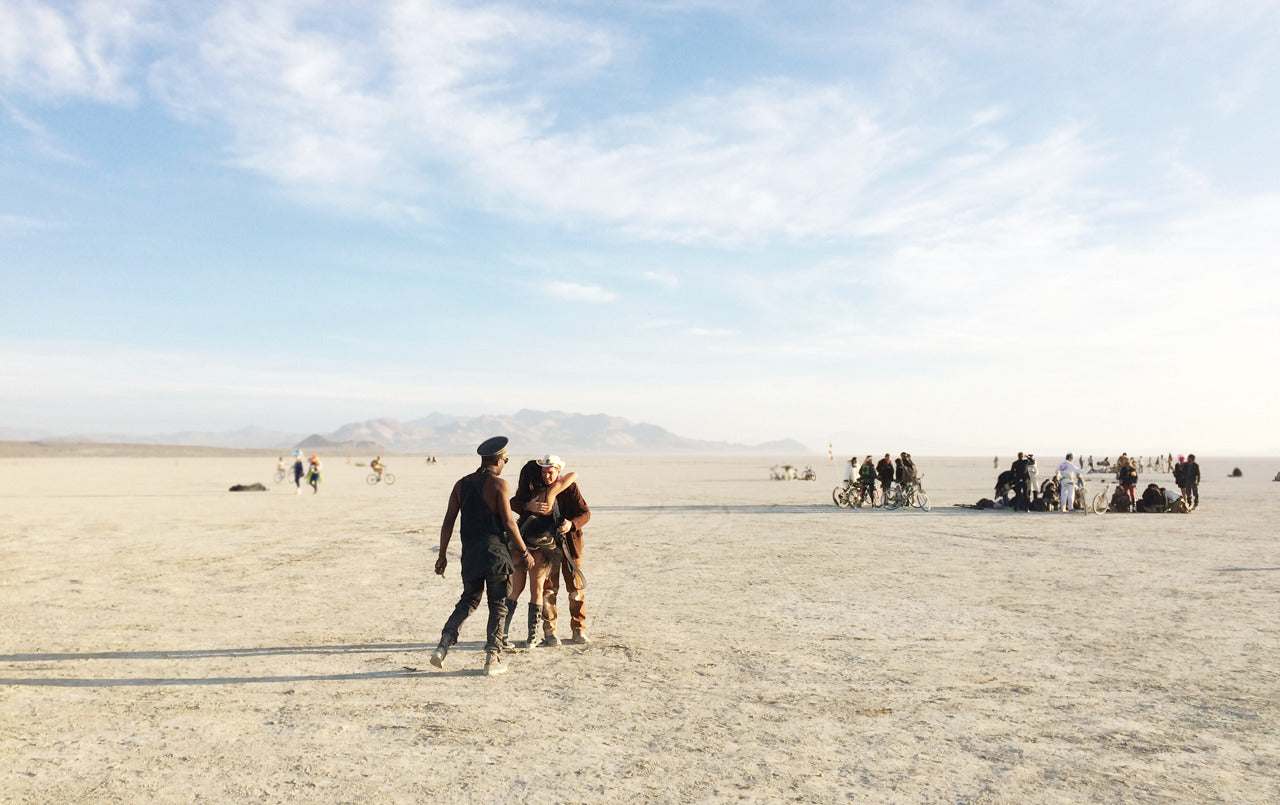 Wake up and dance - Deep playa, Burning Man