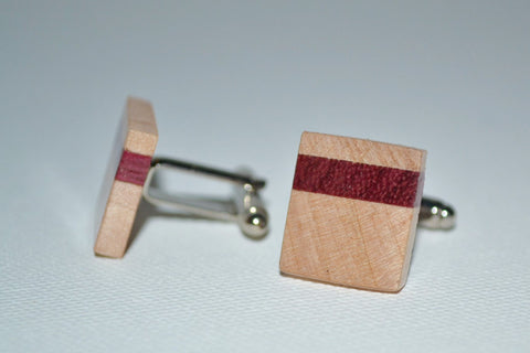 Maple & Purple Heart Cuff Links