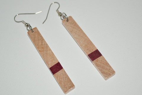 Maple & Purple Heart Earrings