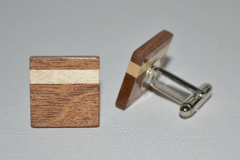 Walnut & Maple Cuff Links