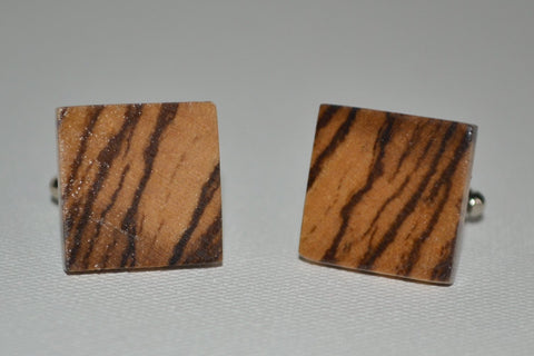 Zebra Wood Cuff Links
