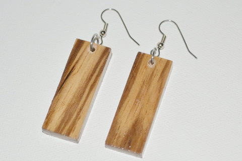 Zebra Wood Edge Grain Earrings