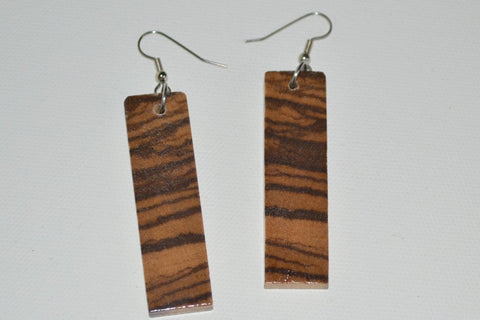 Zebra Wood End Grain Earrings