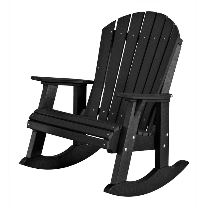 poly wood porch rocker duraweather poly resin lumber outdoor patio furniture