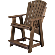 Load image into Gallery viewer, duraweather polywood patio furniture brown counter bar height adirondack chair