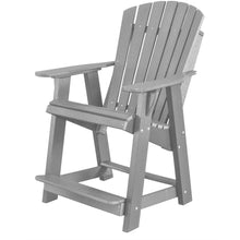 Load image into Gallery viewer, duraweather polywood patio furniture grey counter bar height adirondack chair