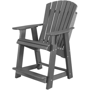 duraweather polywood patio furniture grey counter bar height adirondack chair