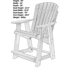 Load image into Gallery viewer, Set of 3 - DuraWeather Poly® Classic Adirondack Counter Chair