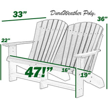 Load image into Gallery viewer, DuraWeather Poly® Classic Loveseat Adirondack Bench