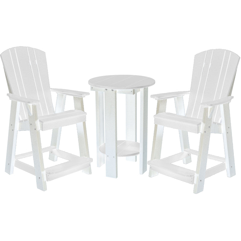 polywood furniture, patio furniture, bistro set, counter chairs, counter table set, poly resin furniture, polywood, duraweather poly, berlin gardens, sister bay furniture, recycled furniture, poly furniture, poly, outdoor furniture