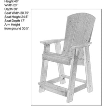 Load image into Gallery viewer, Set of 3 - Plantation Counter Height Adirondack Chairs