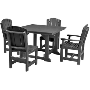 duraweather poly furniture dining set table and chairs poly resin lumber outdoor patio furniture