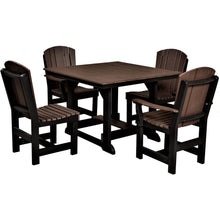 Load image into Gallery viewer, duraweather poly furniture dining set table and chairs poly resin lumber outdoor patio furniture
