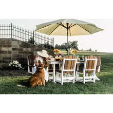 Load image into Gallery viewer, poly outdoor patio furniture dining set table and chairs all-weather duraweather poly resin lumber rustic furniture