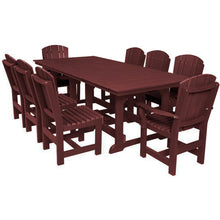 Load image into Gallery viewer, DuraWeather Poly® 9 pc. Plantation Dining Table Set (20+ Color Options)