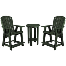 Load image into Gallery viewer, DuraWeather Poly® Adirondack Counter King Size Chair & Table Bistro Set