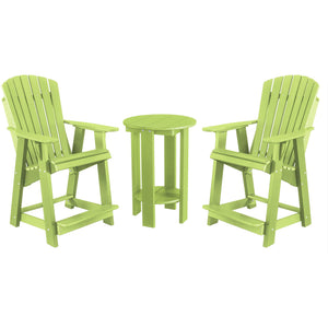 DuraWeather Poly® Classic Adirondack Counter Chair & Table Bistro Set