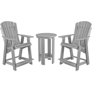 DuraWeather Poly® Adirondack Counter King Size Chair & Table Bistro Set