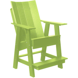 duraweather polywood patio furniture counter bar height adirondack chair