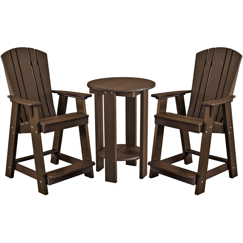 DuraWeather Poly® 3 pc. Plantation Bistro Group Counter Height Set