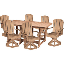 Load image into Gallery viewer, DuraWeather Poly® 7 pc. Plantation Dining Table Set With All Swivel Rockers