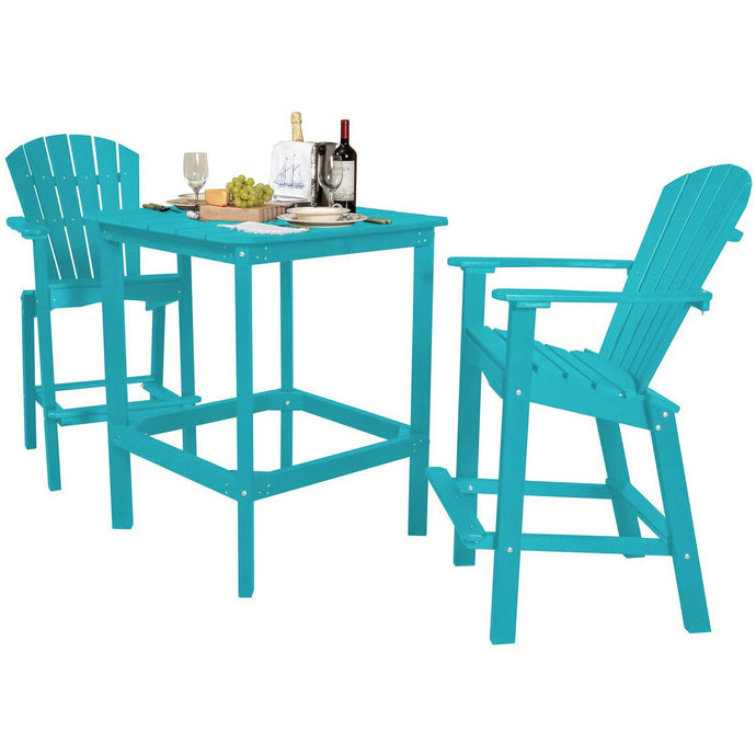 DuraWeather Poly® 3 pc. Counter Height Adirondack Bistro Set