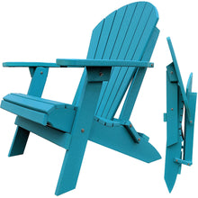 Load image into Gallery viewer, DuraWeather Poly® King Size Folding Adirondack Chair - (Aruba Blue)