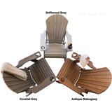 DuraWeather Poly® Premium King Size Folding Adirondack Chair with Built-in Cup Holders - (19 Colors Available)