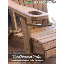 Load image into Gallery viewer, DuraWeather Poly® Premium King Size Folding Adirondack Chair with Built-in Cup Holders - (Chocolate Brown)