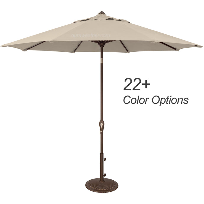 DuraWeather® 9' Auto Tilt Octagon Umbrella (Over 22 Colors!) Ships in 3-5 Business Days
