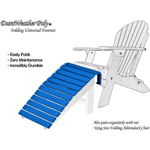 DuraWeather Poly® Universal Folding Ottoman Footrest - Ships Fully Assembled