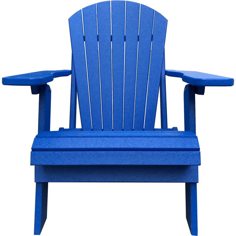 DuraWeather Poly® King Size Folding Adirondack Chair - (Pool Blue)