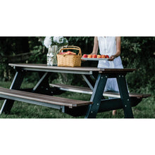 Load image into Gallery viewer, outdoor picnic table poly resin lumber all-weather outdoor patio furniture duraweather