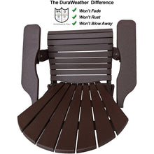 Load image into Gallery viewer, DuraWeather Poly® King Size Folding Adirondack Chair - (Chocolate Brown)