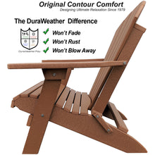 Load image into Gallery viewer, DuraWeather Poly® King Size Folding Adirondack Chair (Fireside Cedar)