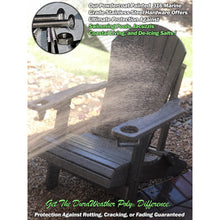 Load image into Gallery viewer, DuraWeather Poly® Premium King Size Folding Adirondack Chair with Built-in Cup Holders - (19 Colors Available)