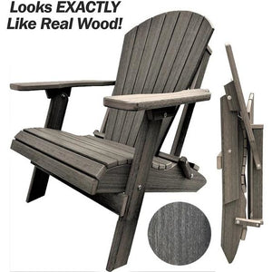 DuraWeather Poly® King Size Folding Adirondack Chair