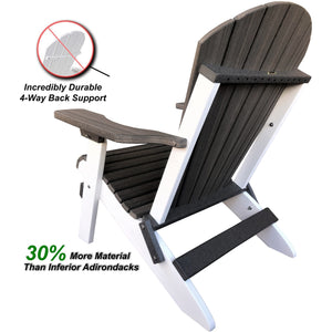 New! DuraWeather Poly® King Size Folding Adirondack Chair - Signature Collection